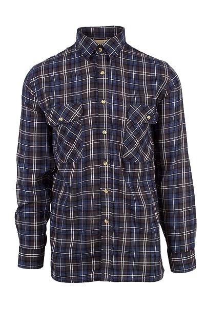 Fenside Country Clothing - Camisa Casual - para Hombre Azul Azul M- 102 cm   Amazon.es  Ropa y accesorios 79cd2284de9