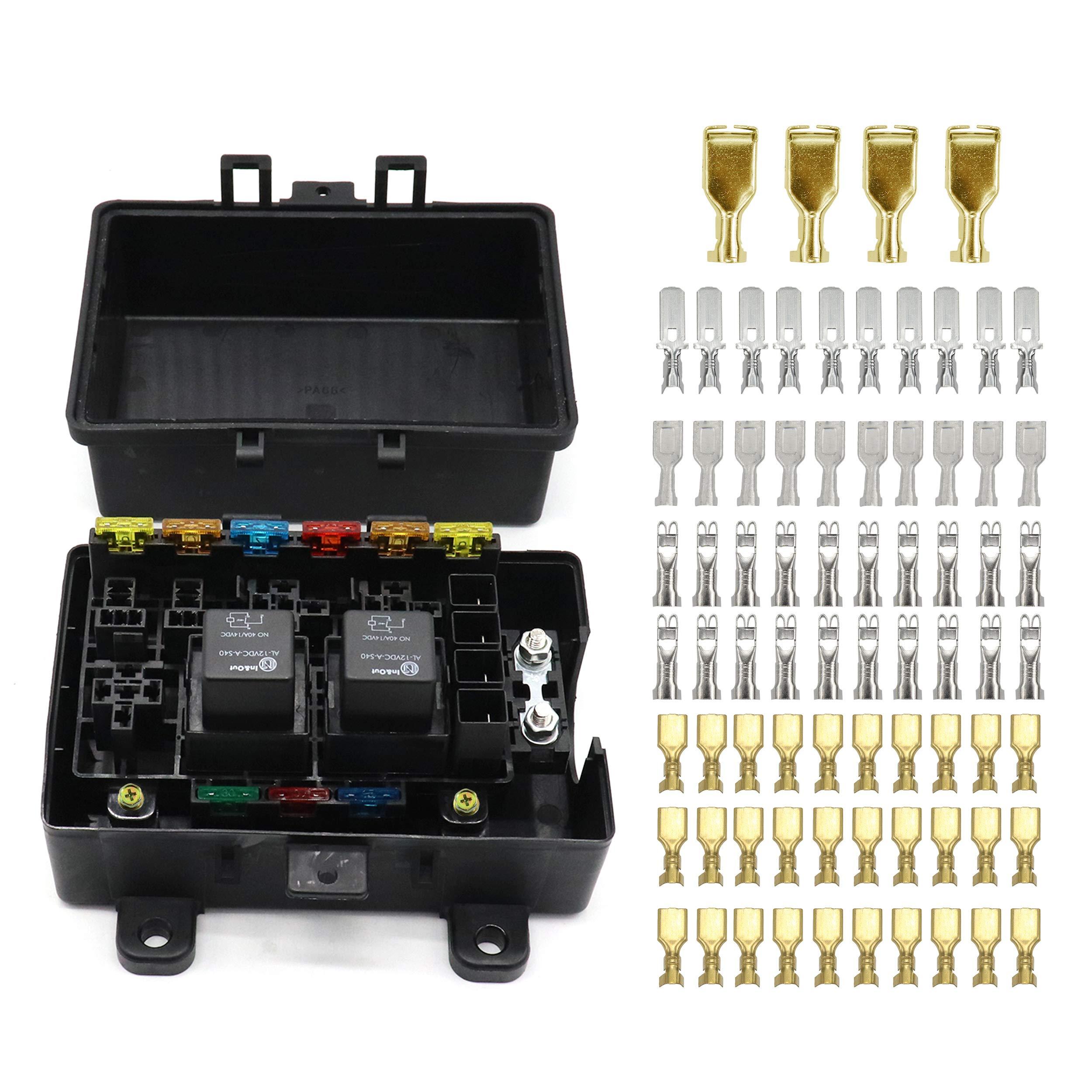 galleon 21 slot relay fuse box relay ato atc fuse holder car fuse box relay holder fuse box terminals #1