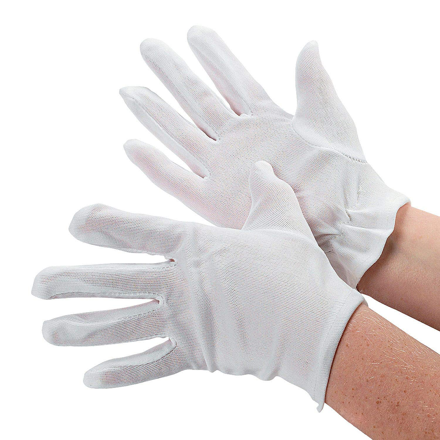 Fun Express Child Size White Polyester Gloves (1 Pair) Everready First Aid FNEIN-5/1033