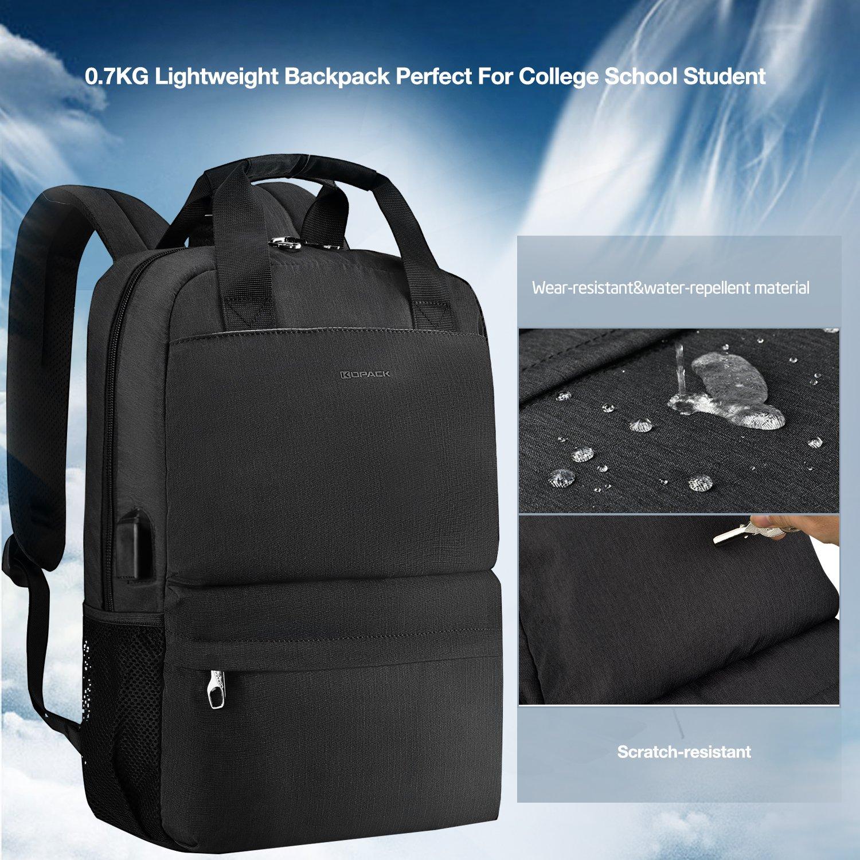 Kopack College Backpack W Usb Charging Port Lightweight Slim Laptop Bag For Business Travel 15 15.6 IN KP677 by kopack (Image #1)