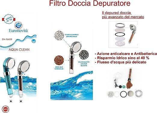 Alcachofa con filtro/Spa: Purificador iónico con sales minerales y ...