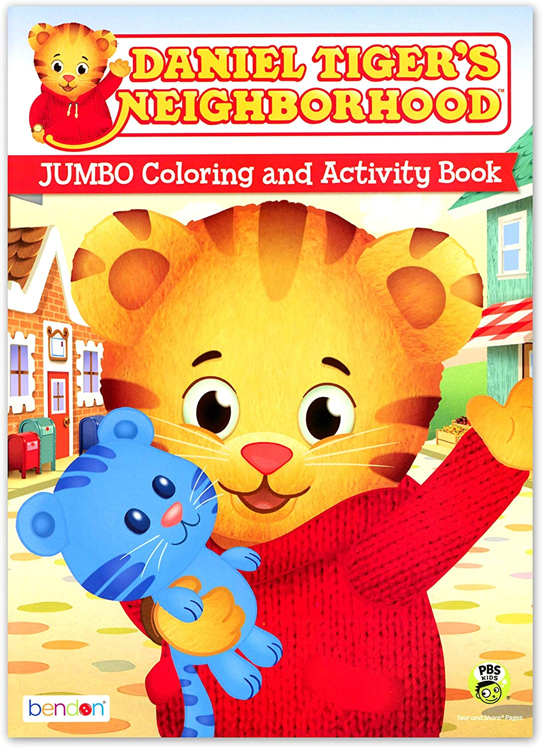 Amazon Com Daniel Tiger S Neighborhood Jumbo Coloring Activity Book By Pbs Kids Fred Rogers Toys Games