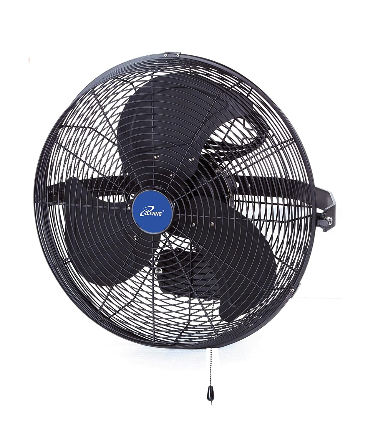 "iLIVING ILG8E14-15 Wall Mount Outdoor Waterproof Fan, 14"", Black"