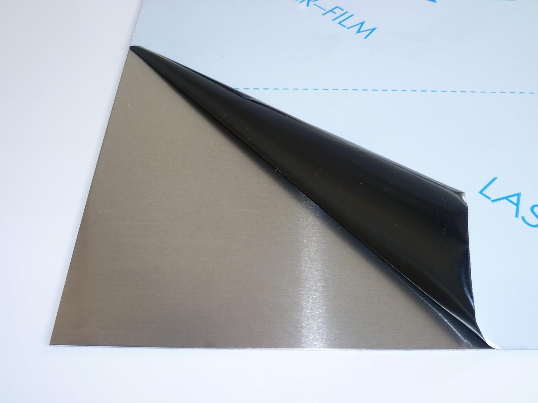 Plaque Alu B /& T T/ôle daluminium lamin/ée 2,0/mm d/épaisseur Face brute avec film de protection d/écran en D/écoupe