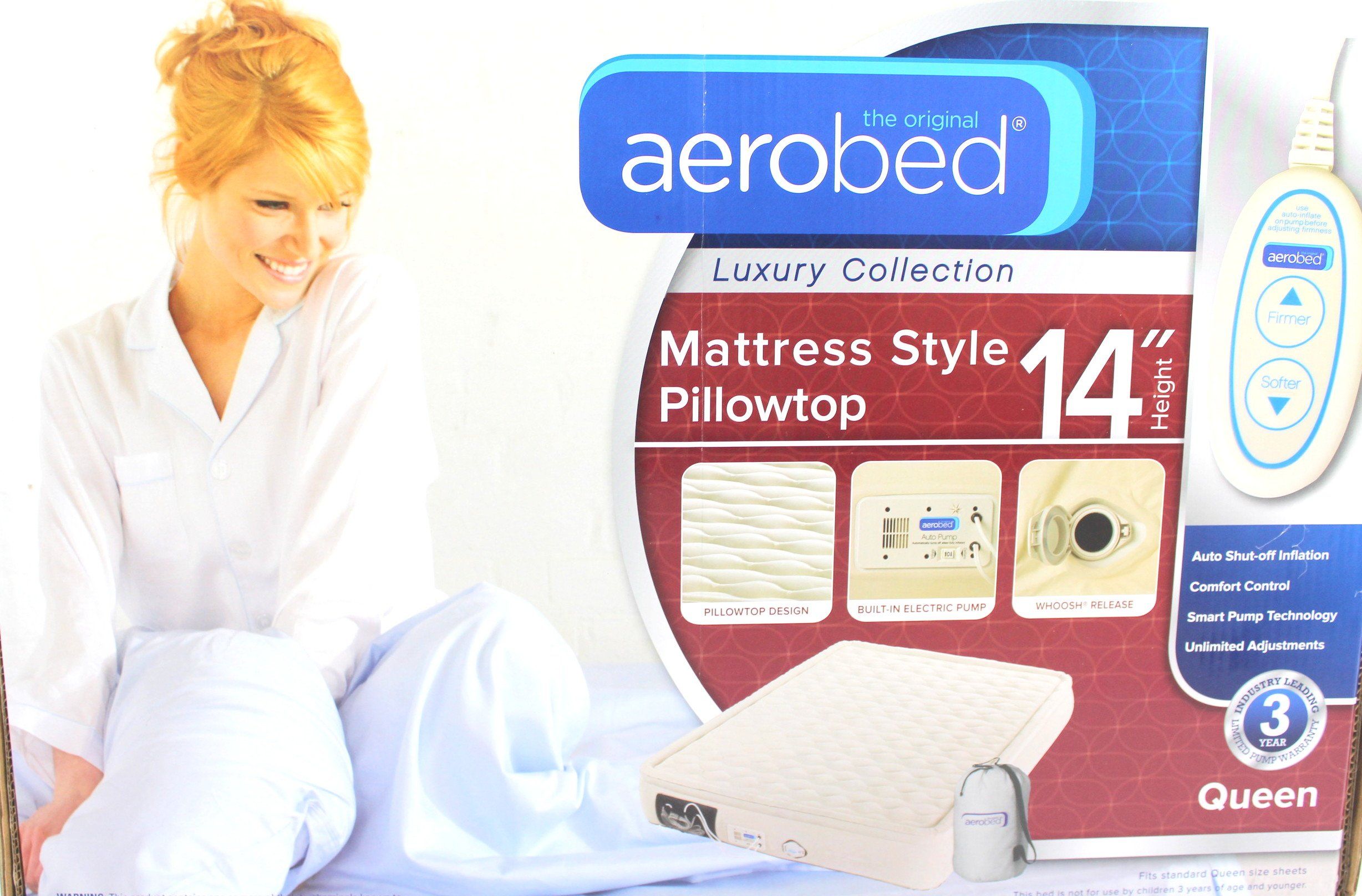 AeroBed® Luxury Collection Mattress Style Pillowtop Queen Inflatable Bed