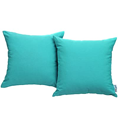 Modway EEI-2001-TRQ Convene Two Piece Patio Pillow Set Outdoor Furniture, Turquoise: Home Improvement