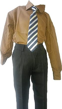 Unbekannt - Camisa - Básico - para niño Marrón marrón 32: Amazon.es: Ropa y accesorios