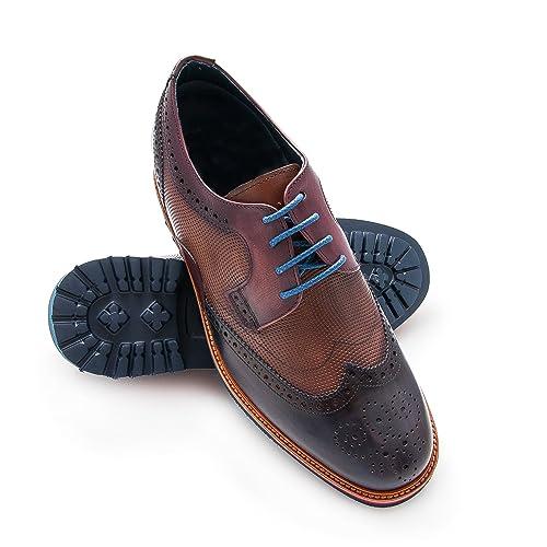 Zerimar Zapatos Deportivos con Alzas Interiores de 7 cm Fabricados EN Piel Piel Color Azul Marino Talla 39 Mggbo6kE