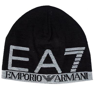 d90b79c5b2f EA7 - Bonnet Emporio Armani EA7 noir 275560 5A393 L  Amazon.fr ...