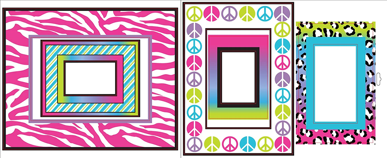 Komar VL0503 Brewster Animal Print Frames Stickers