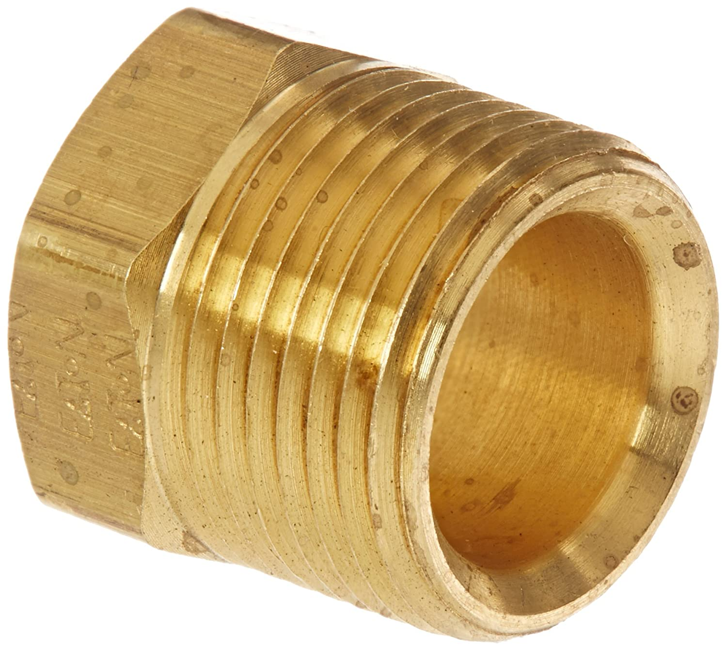 3//8 Tube OD Nut Eaton Weatherhead 100X6 Brass CA360 Inverted Flare Brass Fitting