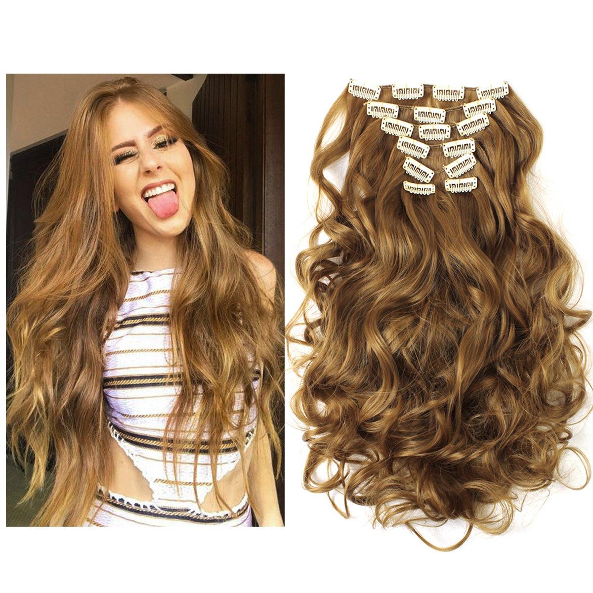 Amazon Sarla 20 7pcs Full Head Wavy Clip In Hair Extensions