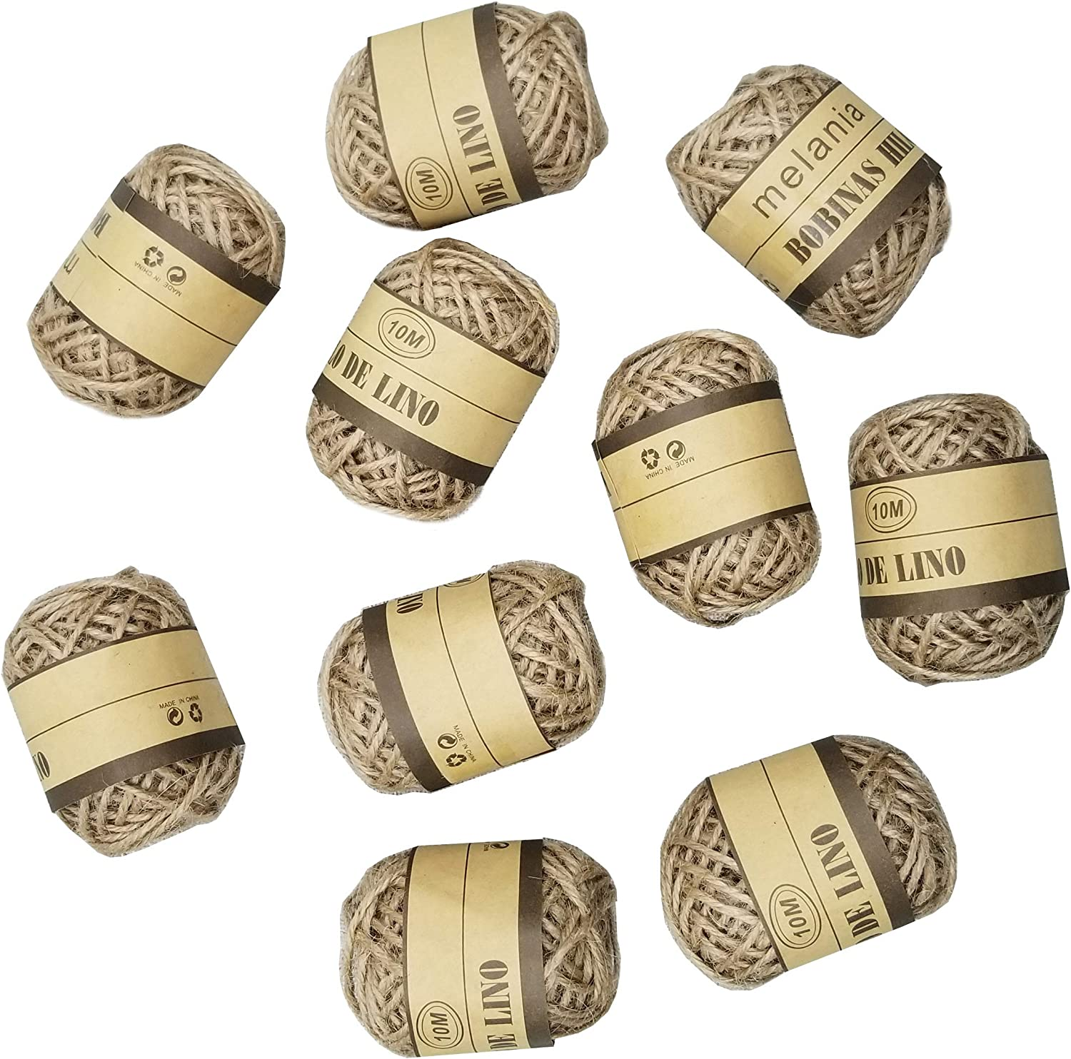 Amazon.com: Natural Twine Cord Jute Twine Rope Thread for DIY Decor Toy  Crafts Parts Vintage Rustic Wedding Decoration,Pack of 100M: Arts, Crafts &  Sewing