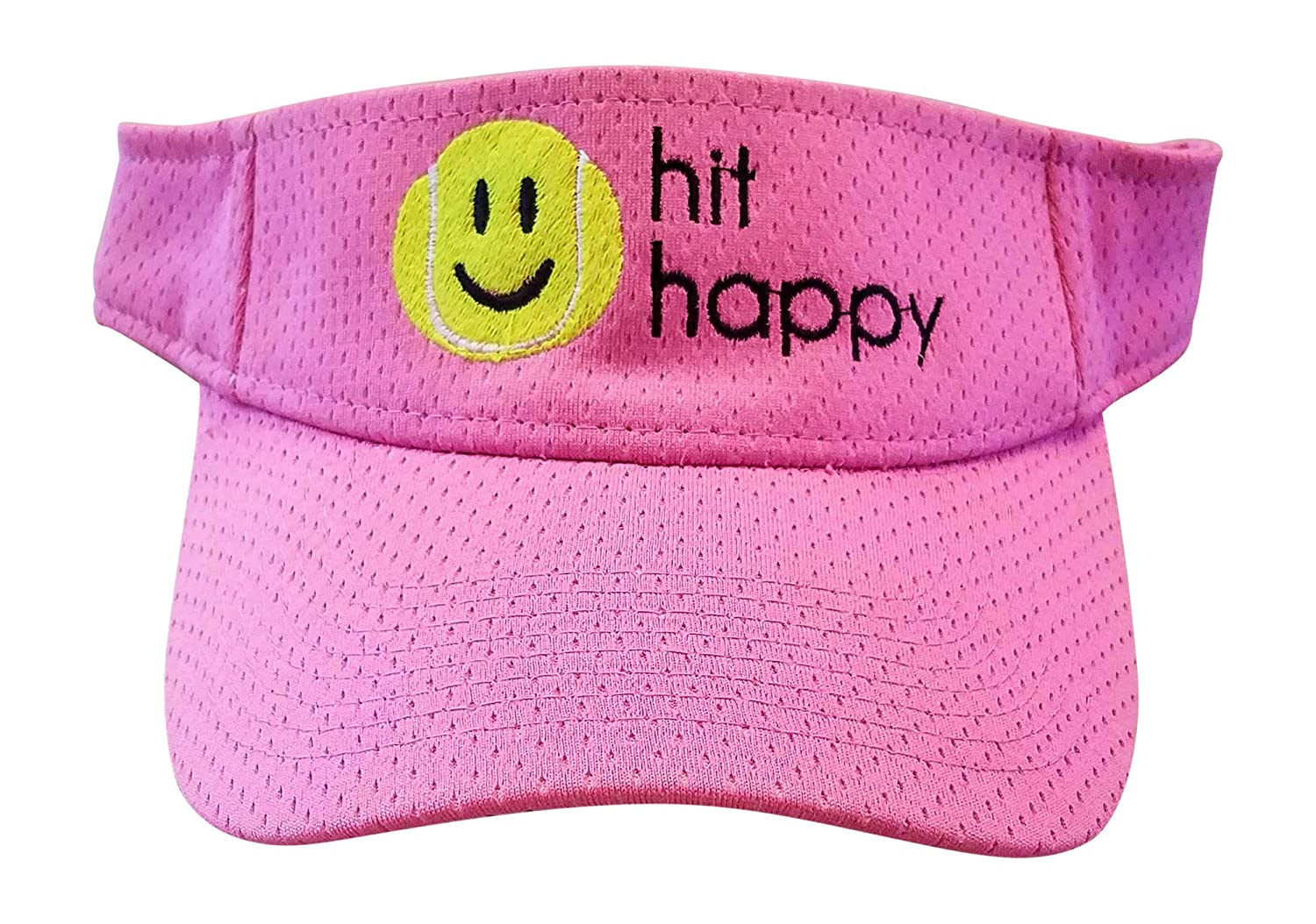 Amazon.com: Tennis Visor Hit Happy, Adjustable Strap, Perfect for On The Court Or Off (Black): Clothing