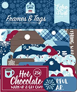 Echo Park Paper Company My Favorite Winter Frames & Tags ephemera, red, blue, teal, tan
