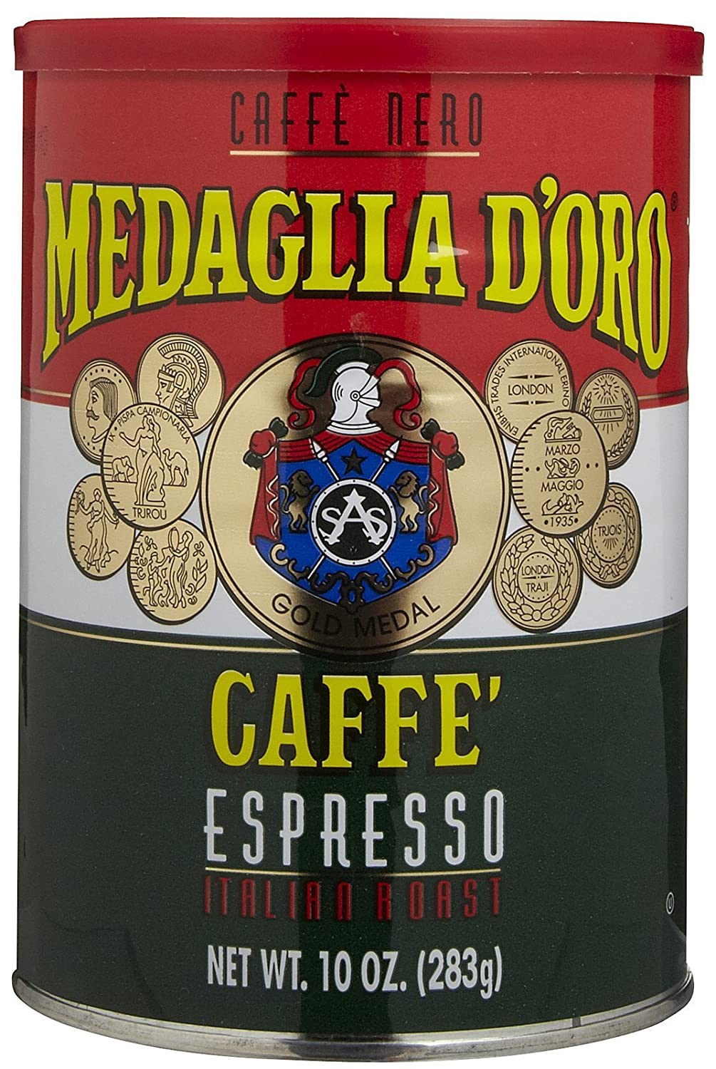Amazon.com : Medaglia D Oro, Caffe Espresso Can Ground, 10-Ounce (6 Pack) : Ground Coffee : Grocery & Gourmet Food