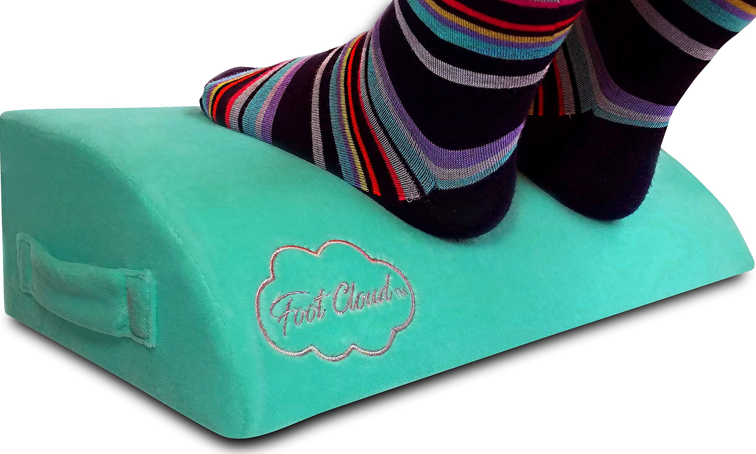 Foot Cloud Ergonomic Foam Foot Rest. Amazon's only Ergonomic Foam Desk Foot Rest, Office Foot Rest, Under Desk Foot Rest - Like Your Feet are Floating on a Cloud.