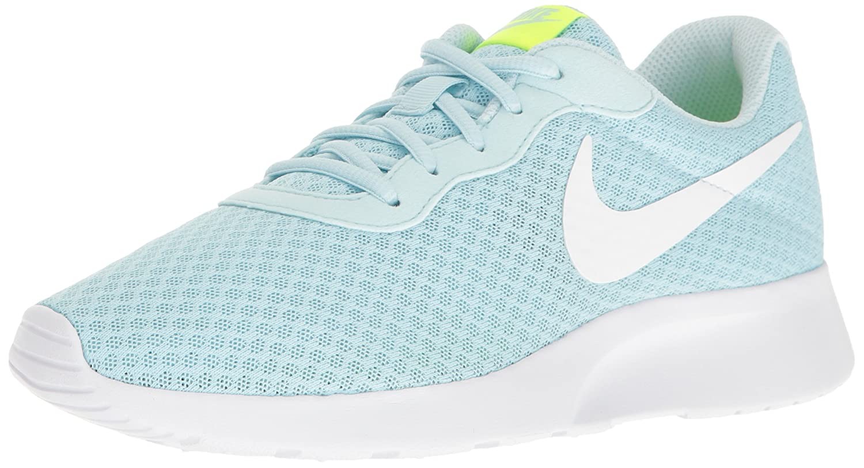 NIKE Women's Tanjun Running Shoes B01HN3GTG0 12 B(M) US|Glacier Blue White Volt
