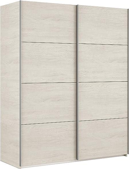 Legno Bianco 2 Ante scorrevoli 200 x 150 x 63 cm Esidra Armadio Guardaroba Moderno