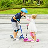 WeSkate Kids Scooter 3 Wheel with Light Up Wheel
