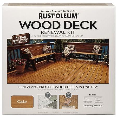 Rust Oleum 265130 Wood Deck Renewal Kit Amazon Co Uk Diy