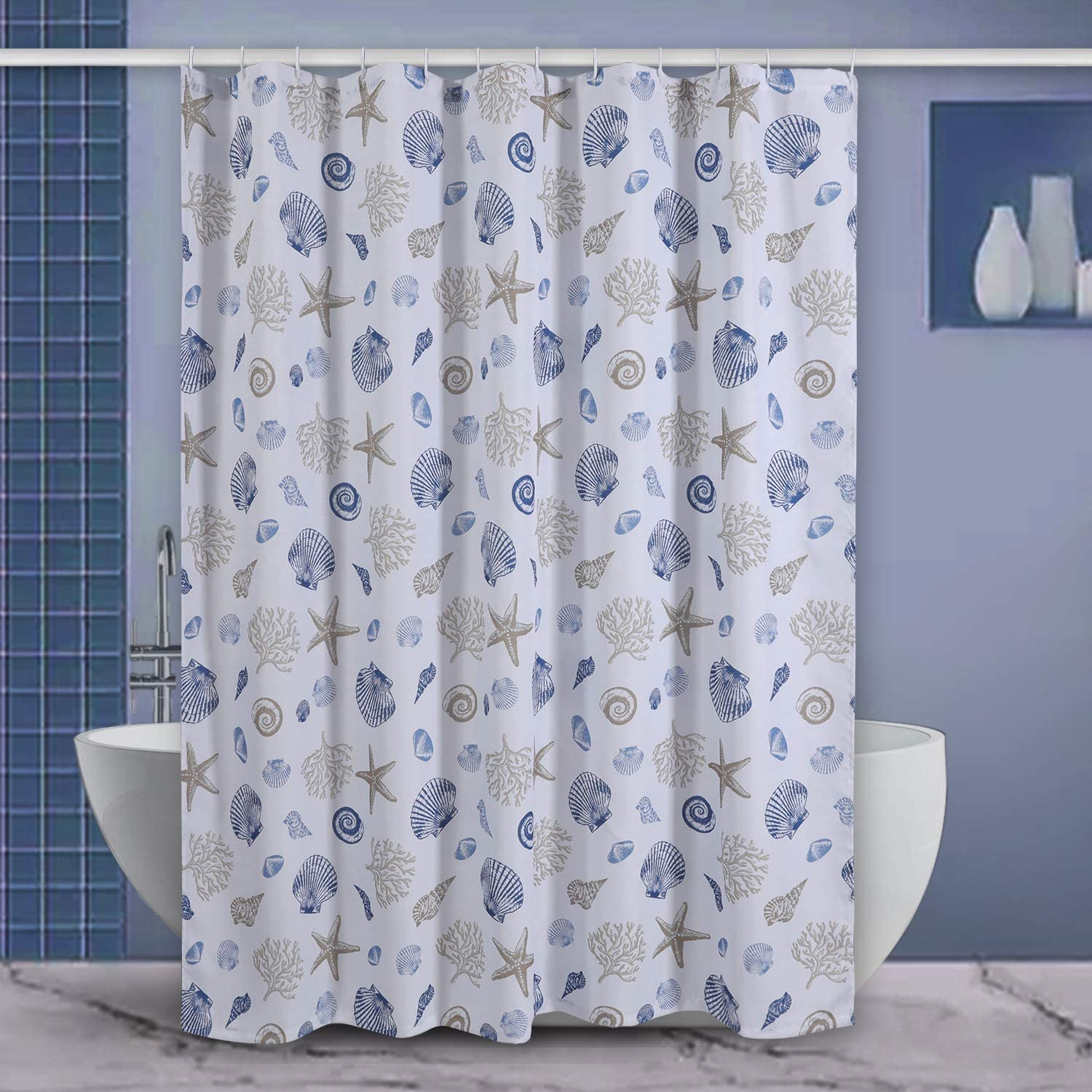 "Shower Curtain, Starfish Shower Curtain Bathroom Decorative Curtains for Hotel Spa, 72"" x 72"""