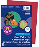 Pacon SunWorks Construction Paper, 9-Inches by 12-Inches, 50-Count, Red (6103)
