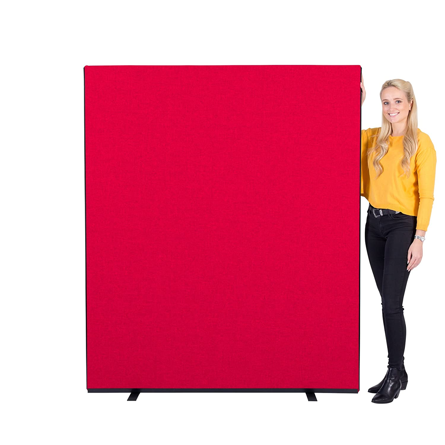Office Screen / Partition 1500mm W x 1800mm H, woolmix fabric Blue Portrait Panelwarehouse 1417