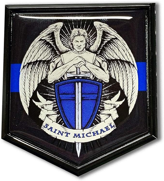 Saint Michael Abzeichen Gedenkmünze Münze St Michael Schutzpatron Polizei police