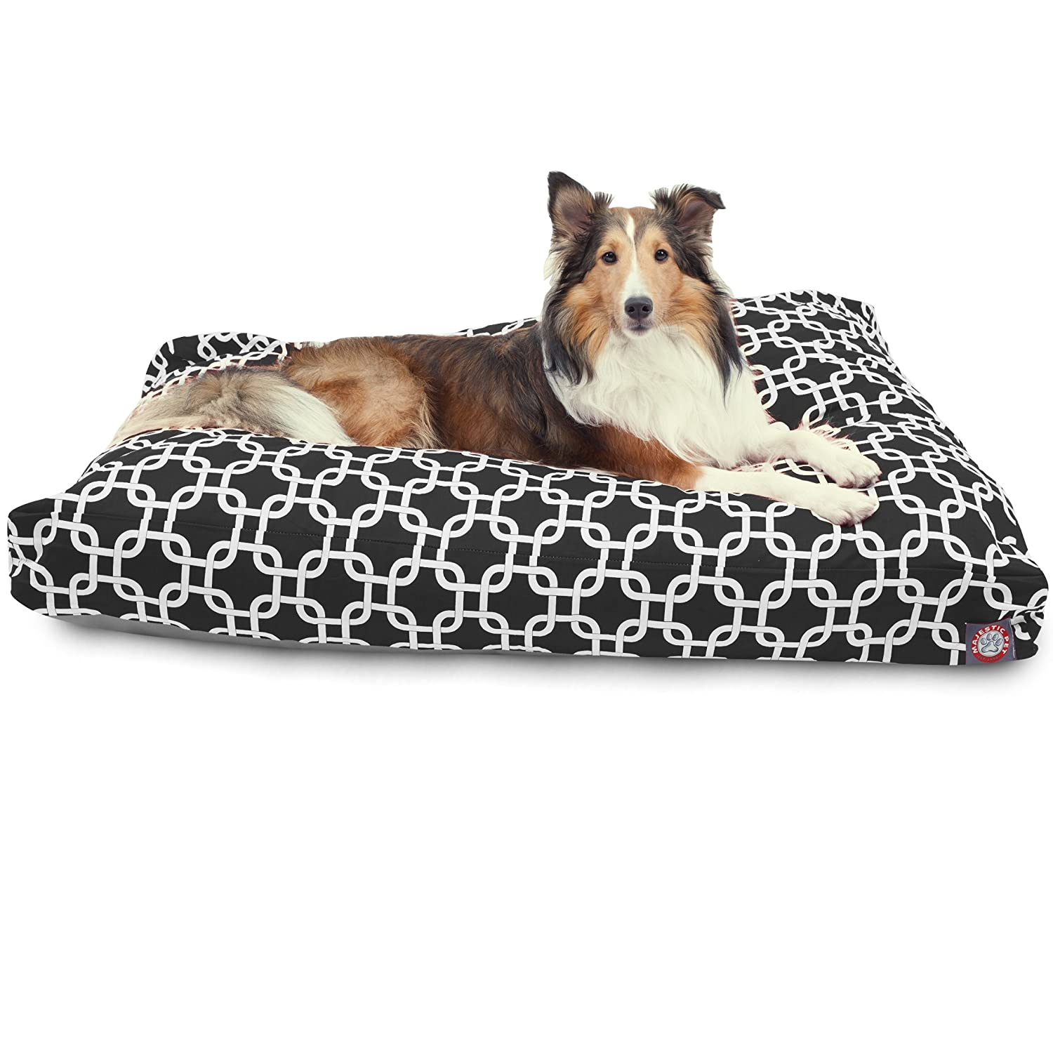 Majestic Pet Gray Links Medium Rectangle Indoor Outdoor Pet Dog Bed with Removable Washable Cover Products