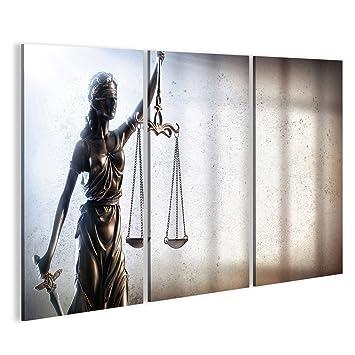 Islandburner Bild Bilder Auf Leinwand Dame Gerechtigkeit Und Gefängnis    Strafjustiz Konzept Wandbild Leinwandbild Poster DYM