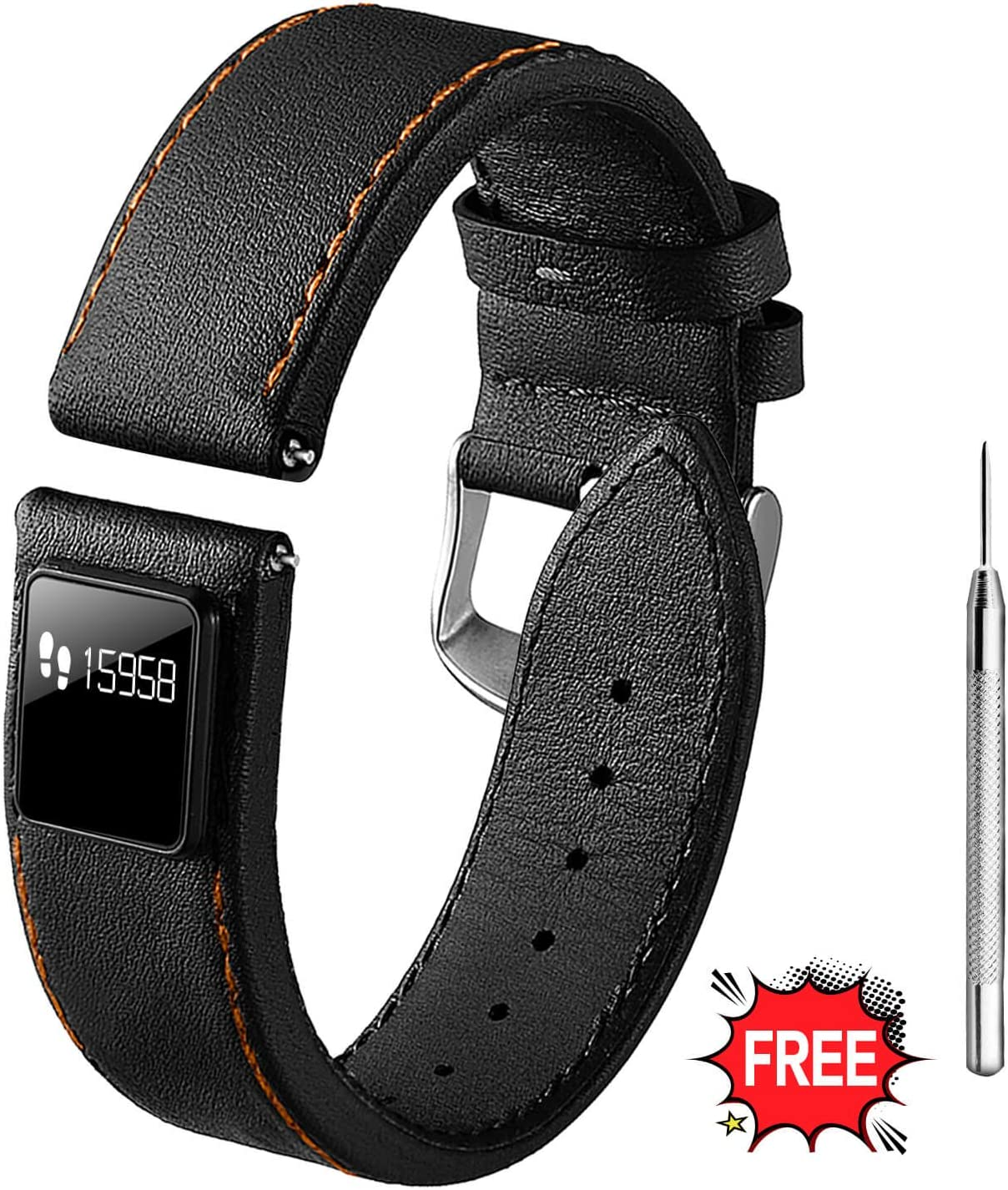 Amazon Com Hot Teen Quick Release Top Leather Watch Strap With Fitness Tracker Calorie Counter Sport Pedometer Sleep Monitoring Watch Band Color And Width Selection 20mm Or 22mm Nappa Black 22mm