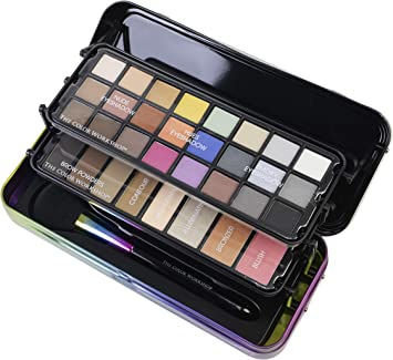 The Color Workshop The Color Workshop – Hello Beauty on the go – Estuche de maquillaje – Cruelty Free – Sombras de Ojos – Blush – Highlighter – Poudres – Pinceles: Amazon.es: Belleza