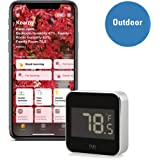 Eve Degree - Connected Weather Station for tracking temperature, humidity & air pressure; IPX3 water resistance, display, no