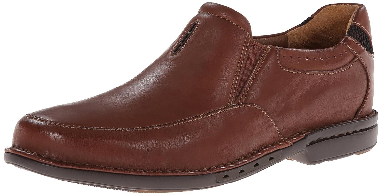 braun Leather Clarks Un Corner Twin Slip-on Loafer