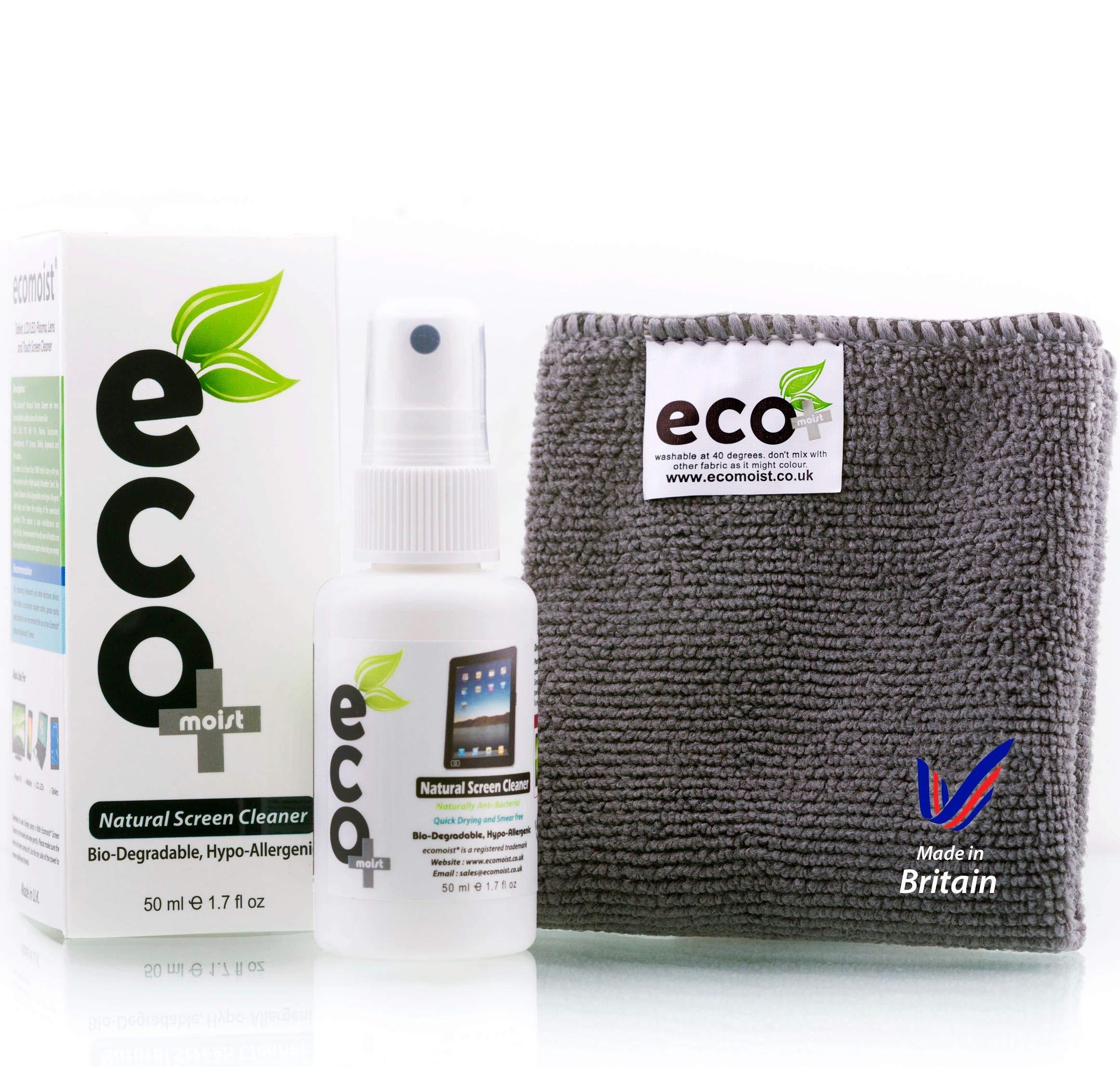 9c49487a963ec9 Ecomoist KIT De Nettoyage 50Ml + Serviette en microfibres extra fines 100%  de fines herbes