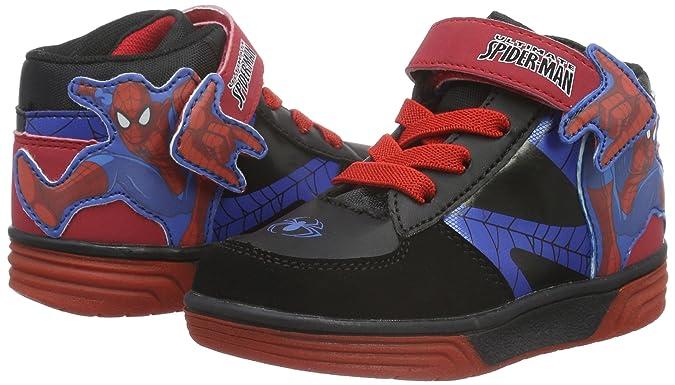Spiderman SP002620, A Collo Alto Bambini e Ragazzi, Nero (Nero (BK/BK/CB/B/R 631)), 33 EU