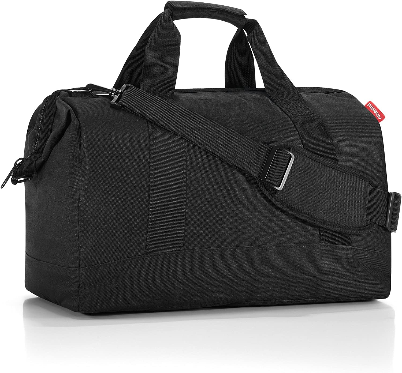 reisenthel Allrounder L Large Weekender Bag, Versatile 6-Pocket Padded Duffel, Black
