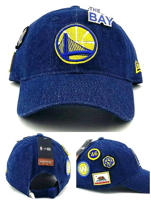 cbf6386dae1 Amazon.com   New Era Golden State Warriors NBA Youth Kids Boys 9Twenty  Draft Alternate Blue Gold Denim Jr Slouch Strapback Hat Cap   Sports    Outdoors