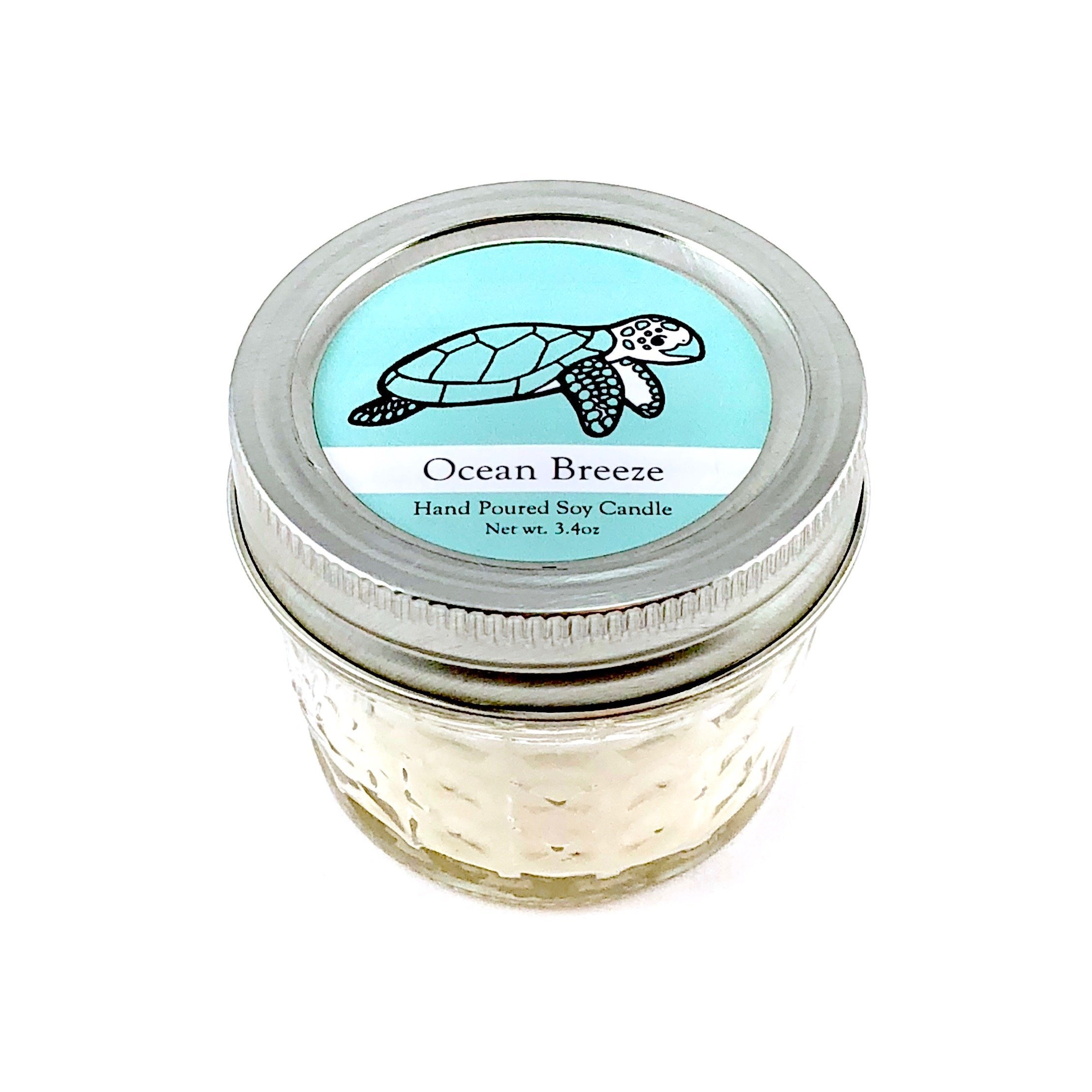 Sea Turtle Conservation Candle - Ocean Breeze Scent | Wildlife Conservation All-Natural Vegan Soy Candle