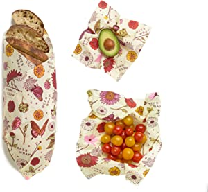 Bees Wrap, Set Of Three Assorted Sizes
