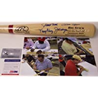 $699 » Big Red Machine Cincinnati Reds - Johnny Bench, Pete Rose, Joe Morgan & Tony Perez Autographed Hand Signed Rawlings Adirondack Pro Baseball…