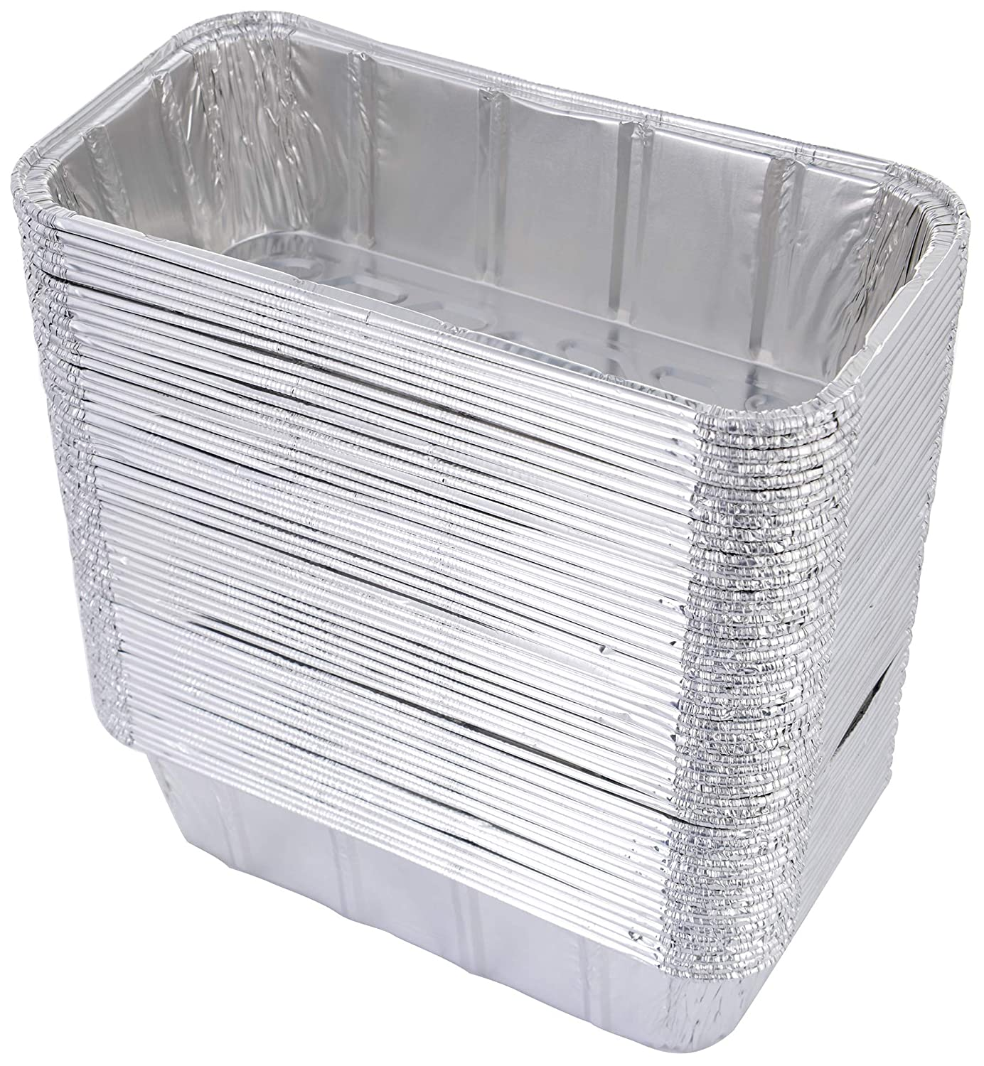 "DOBI (50 Pack) Loaf Pans - Disposable Aluminum Foil 2Lb Bread Tins, Standard Size - 8.5"" X 4.5"" X 2.5"""
