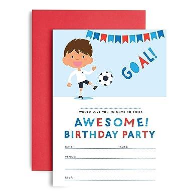 tbs football party invitations boys birthday party invites 10