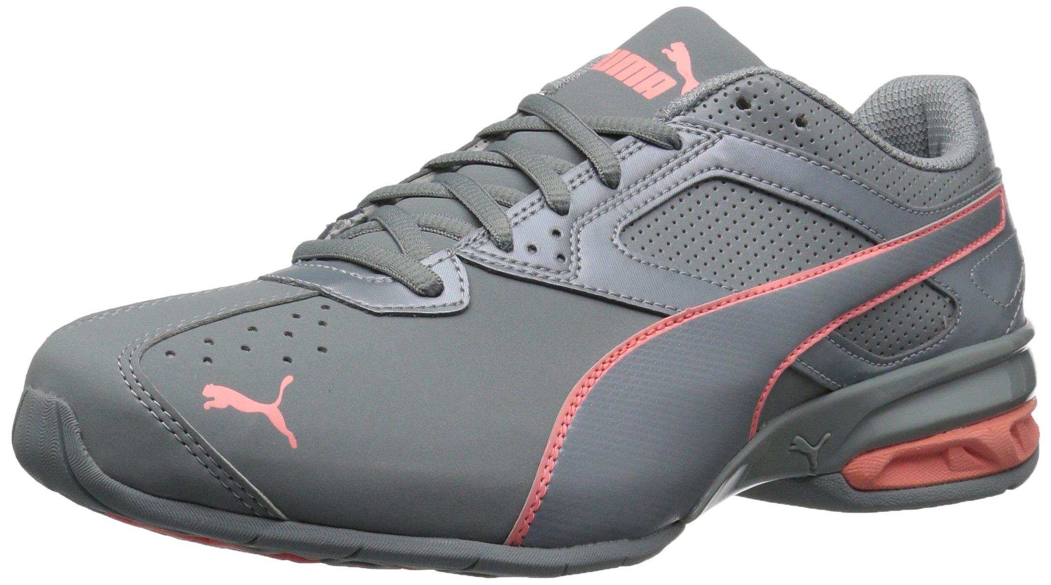 PUMA Women's Tazon 6 Wn Sneaker, Quarry-Soft Fluo Peach, 10 M US