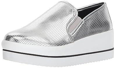 a320bc7a146 Steve Madden Women s Becca Sneaker Silver 6.5 ...
