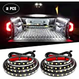 Nilight 2PCS 60'' 180 LEDs Bed Strip Kit with Waterproof On/Off Switch Blade Fuse 2-Way Splitter Extension Cable for…