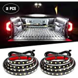 Nilight - TR-05 2PCS 60 Inch 180 LEDs Bed Strip Kit with Waterproof on/Off Switch Blade Fuse 2-Way Splitter Extension…