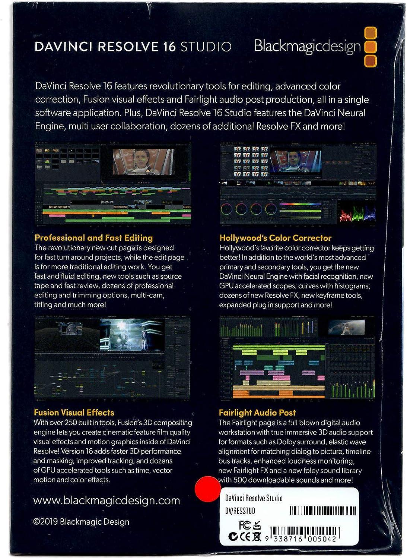 Blackmagic Design Davinci Resolve Studio Activation Card Amazon Co Uk Computers Accessories