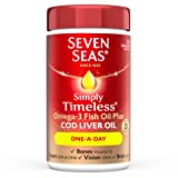 Seven Seas Simply Timeless Cod Liver Oil, One-a-Day, 120 Capsules